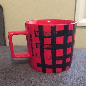Red Plaid Starbucks Mug